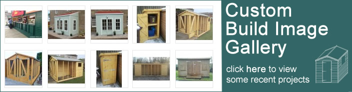 Custom build garden buildings